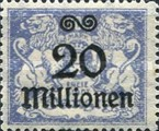 [Hyperinflation Overprints on the Coat of Arms of Danzig, type AO6]