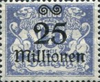 [Hyperinflation Overprints on the Coat of Arms of Danzig, type AO7]