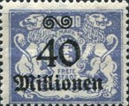 [Hyperinflation Overprints on the Coat of Arms of Danzig, type AO8]