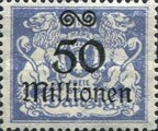[Hyperinflation Overprints on the Coat of Arms of Danzig, type AO9]
