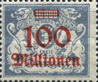 [Hyperinflation Overprints on the Coat of Arms of Danzig, type AQ]
