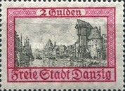 [City Views Stamps of 1924 in New Colors, type AX1]