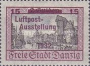 [Airmail Stamp Exhibition - City Views Stamps of 1924 Surcharged, type BF1]