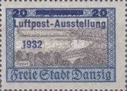[Airmail Stamp Exhibition - City Views Stamps of 1924 Surcharged, type BF2]