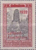 [Airmail Stamp Exhibition - City Views Stamps of 1924 Surcharged, type BF3]