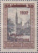 [Airmail Stamp Exhibition - City Views Stamps of 1924 Surcharged, type BF4]
