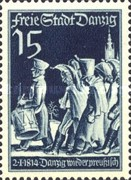 [The day of the Stamp - The 125th Anniversary of the Recovery of the Hanseatic City of Danzig to Prussia, type CP]