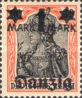 [German Empire Stamp Overprinted, type E]