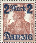 [German Empire Stamp Overprinted, Typ G]