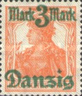 [German Empire Stamp Overprinted, Typ H]