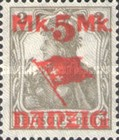 [German Empire Stamp Overprinted, Typ I]