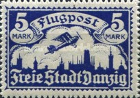 [Airmail - See Also No. 106-112, type T]
