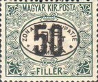 [Hungarian Postage Due Stamps Overprinted, Typ A1]