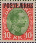 [Wave-line, caravel and Christian X overprinted POSTFÆRGE, Typ A11]