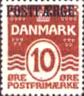 [Wave-line, caravel and Christian X overprinted POSTFÆRGE, Typ C1]