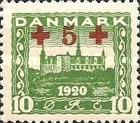 [Reunion with Northern Schleswig Stamps of 1920-1921 with Red Cross  Surcharge, type AC]