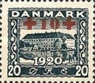 [Reunion with Northern Schleswig Stamps of 1920-1921 with Red Cross  Surcharge, type AC1]
