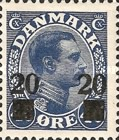[King Christian X - Stamps of 1921-1922 Surcharged, Typ AJ]