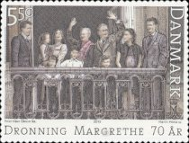 [The 70th Anniversary of the Birth of Queen Margrethe II - Self Adhesive, Typ AOG]