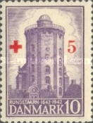 [Round Tower in Copenhagen - Red Cross Charity Stamp, type BU1]