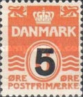 [Wavy Lines & King Frederik IX Surcharged, type DI]