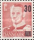 [Wavy Lines & King Frederik IX Surcharged, type DK]