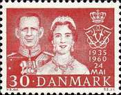 [The 25th Anniversary of the Marriage of King Frederik IX and Queen Ingrid, Typ EA]
