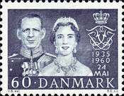 [The 25th Anniversary of the Marriage of King Frederik IX and Queen Ingrid, Typ EA1]