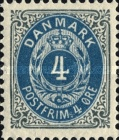 """[Royal Emblem - New Drawing - Value in """"ØRE"""" - Different Perforation, Typ G18]"""