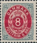 """[Royal Emblem - New Drawing - Value in """"ØRE"""" - Different Perforation, Typ G19]"""