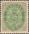 """[Royal Emblem - New Drawing - Value in """"ØRE"""" - Different Perforation, Typ G22]"""