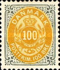 """[Royal Emblem - New Drawing - Value in """"ØRE"""" - Different Perforation, Typ G24]"""