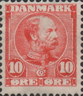 [King Christian IX, 1818-1906 - Horizontal Lines in Background in Oval, type M]