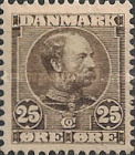 [King Christian IX, 1818-1906 - Horizontal Lines in Background in Oval, type M3]