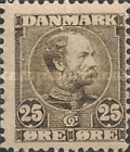 [King Christian IX, 1818-1906 - Horizontal Lines in Background in Oval, type M4]