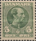 [King Christian IX, 1818-1906 - Vertical and Horizontal Lines in Background in Oval, type N]