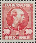 [King Christian IX, 1818-1906 - Vertical and Horizontal Lines in Background in Oval, type N1]
