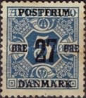 [Newspaper Postage Due Stamps Surcharged, Typ W1]