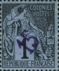 [French Colonies General Issues Postage Stamps Handstamp Surcharged, type A]