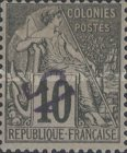 [French Colonies General Issues Postage Stamps Handstamp Surcharged, type A2]