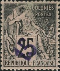 [French Colonies General Issues Postage Stamps Handstamp Surcharged, type A4]