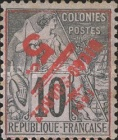 [French Colonies General Issues Postage Stamps Surcharged, type G]