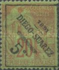 [French Colonies General Issues Postage Stamps Surcharged, type H]