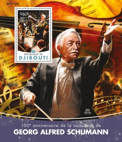 [The 150th Anniversary of the Death of Georg Alfred Schumann, 1866-1952, Typ ]