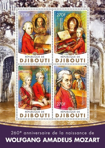 [The 260th Anniversary of the Birth of Wolfgang Amadeus Mozart, 1756-1791, type ]