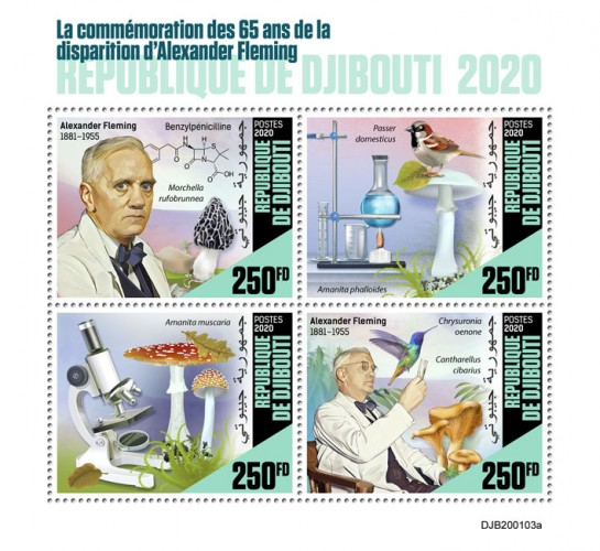 [The 65th Anniversary of the Death of Alexander Fleming, 1881-1955, Typ ]