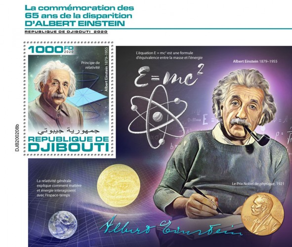 [The 65th Anniversary of the Death of Albert Einstein, 1879-1955, type ]
