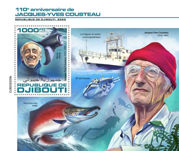 [The 110th Anniversary of the Birth of Jacques-Yves Cousteau, 1910-1997, type ]