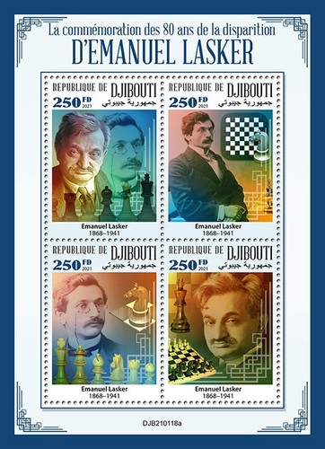 [The 80th Anniversary of the Death of Emanuel Lasker, 1864-1941, type ]