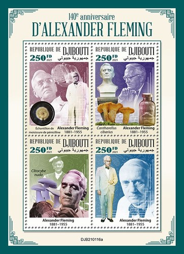 [The 140th Anniversary of the Birth of Alexander Fleming, 1881-1955, type ]